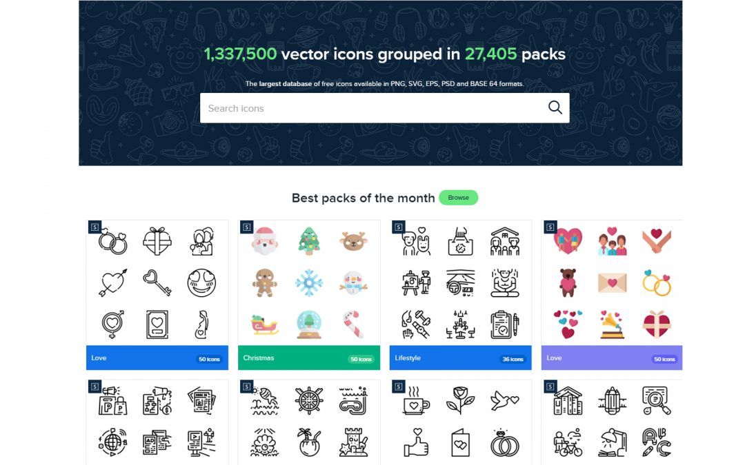 Free clean and simple icons for your website